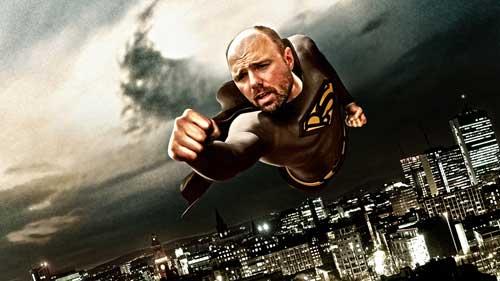 A flying superhero like superman, but it's Captain Bullshit. Fighting people talking crap everywhere.