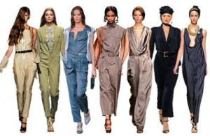 Women in a variety of relaxed, casual jumpsuits to wear any day.